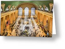 Grand Central Terminal Birds Eye View I Greeting Card by Susan Candelario