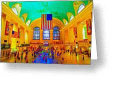 Grand Central Terminal Greeting Card by Dan Hilsenrath