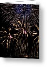 Grand Fireworks Greeting Card by Chandru Murugan
