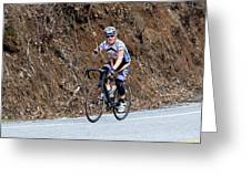 Grand Fondo Bike Ride Greeting Card by Susan Leggett