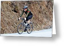 Grand Fondo Rider Greeting Card by Susan Leggett