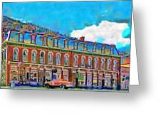 Grand Imperial Hotel Greeting Card by Jeff Kolker