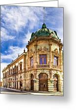 Grand Old Theater In The Heart Of Oaxaca Greeting Card by Mark Tisdale