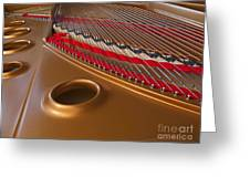 Grand Piano Greeting Card by Ann Horn