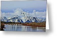 Grand Teton Greeting Card by Leslie Kirk