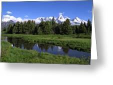 Grand Teton Reflection Greeting Card by Brian Harig