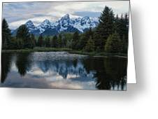 Grand Tetons Reflection Greeting Card by Jack Nevitt
