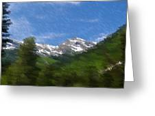 Grand View Greeting Card by Kevin Bone