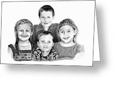 Grandchildren Portrait Greeting Card by Peter Piatt