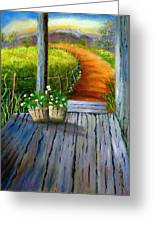 Grandma's Old Country Porch Greeting Card by Janis  Tafoya