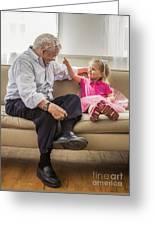 Grandpa's Little Princess Greeting Card by Diane Diederich
