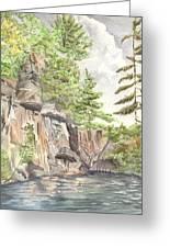 Granite Cliffs On Sherbourne Lake Greeting Card by Lori Kallay