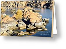 Granite Dells Greeting Card by Jim Chamberlain