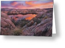 Granite Sorbet Greeting Card by Peter Coskun