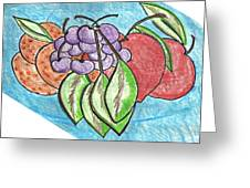 Grapes Greeting Card by Becky Sterling