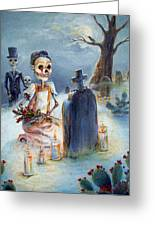 Grave Sight Greeting Card by Heather Calderon