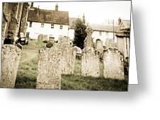 Grave Yard Greeting Card by Tom Gowanlock