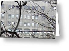 Gray City Greeting Card by Sarah Loft