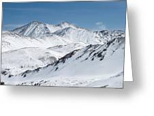 Grays And Torreys From Loveland Ski Area Greeting Card by Aaron Spong