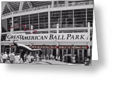 Great American Ball Park And The Cincinnati Reds Greeting Card by Dan Sproul