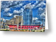 Great American Ballpark Greeting Card by Mel Steinhauer