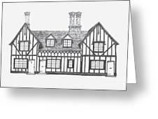 Great Bardfield St Johns Terrace Greeting Card by Shirley Miller