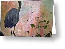 Great Blue Heron Among Cypress Knees Greeting Card by J Larry Walker