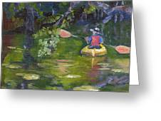 Great Day For A Paddle Greeting Card by Susan Richardson