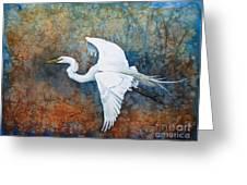 Great Egret  Greeting Card by Zaira Dzhaubaeva