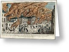 Great Fire Of New York, 1776 Greeting Card by Science Photo Library