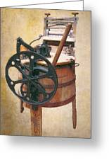 Great-grandmother's Washing Machine Greeting Card by Daniel Hagerman