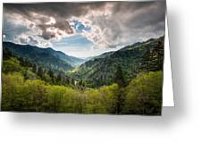 Great Smoky Mountains Landscape Photography - Spring At Mortons Overlook Greeting Card by Dave Allen