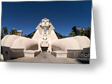 Great Sphinx Of Giza Luxor Resort Las Vegas Greeting Card by Edward Fielding