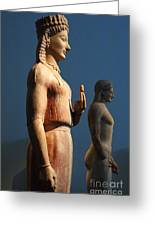 Greek Sculpture Athens 1 Greeting Card by Bob Christopher