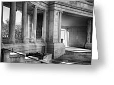 Greek Theatre 7 Bw Greeting Card by Angelina Vick