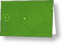 Green Abstract Greeting Card by Frank Tschakert