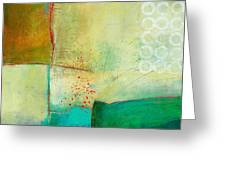 Green And Red 10 Greeting Card by Jane Davies