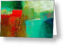 Green And Red 4 Greeting Card by Jane Davies
