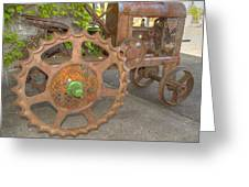 Green Axle Greeting Card by Jean Noren