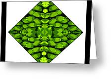 Green Banana Greeting Card by Roberto Alamino