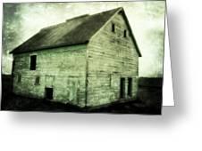 Green Barn Greeting Card by Julie Hamilton