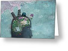 Green Business Greeting Card by Dennis Wunsch