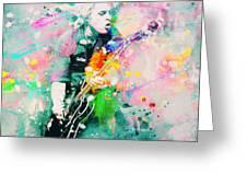 Green Day  Greeting Card by Rosalina Atanasova