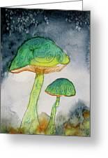 Green Dreams Greeting Card by Beverley Harper Tinsley