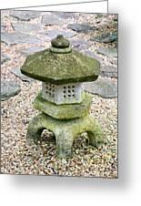 Green Garden Pagoda Greeting Card by Danielle Groenen