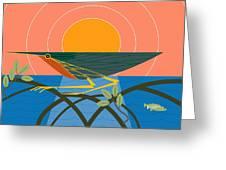 Green Heron Greeting Card by Marie Sansone