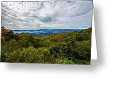 Green Knob Overlook Greeting Card by John Haldane