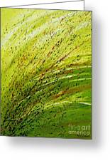 Green Landscape - Abstract Art  Greeting Card by Ismeta Gruenwald