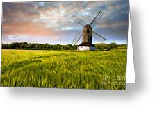 Green Ocean ''pitstone Windmill'' Greeting Card by Radoslav Toth