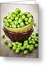 Green Peas Greeting Card by Elena Elisseeva